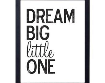 instant download- dream big little one art print