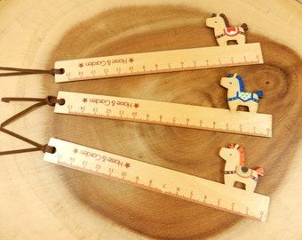 Horse Ruler, 15cm Ruler, School Supplies, Animal Stationery, Wooden Ruler, Horses Stationery, Animal Ruler, Kids Ruler