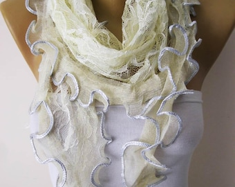 Elegant Scarf-Lace scarf- Fashion Scarves -Scarf-Fashion accessories- for her- christmas gift-Shawls