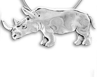 SS Rhinoceros Pin Pendant