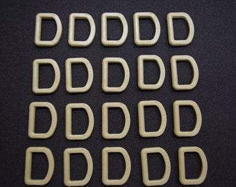 "50 Count Nexus D Rings 1"" Tan 499 W/IR Military Spec Plastic Polymer Webbing Rings"