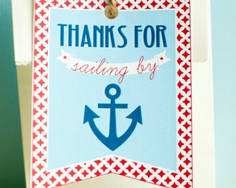 Nautical Baby Shower PRINTABLE Favor Tags (INSTANT DOWNLOAD) by Love The Day