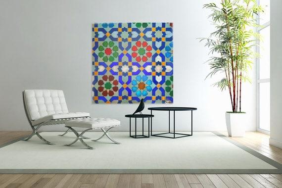 MOROCCON TILES -  Ethnic Wall Art, Living Room, Mediterranean, Turkish, Middle Eastern, Desi, Islamic Decor, Seema Z