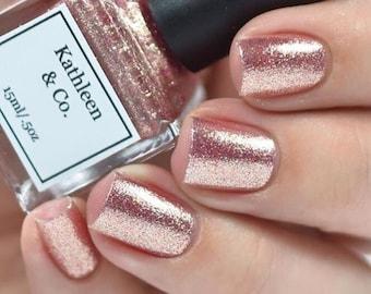 Rose-Gold Digger - Rose gold Nail Polish, 5 Free, Cruelty Free
