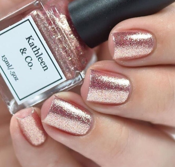 Rose-Gold Digger Rose gold Nail Polish 5 Free Cruelty Free
