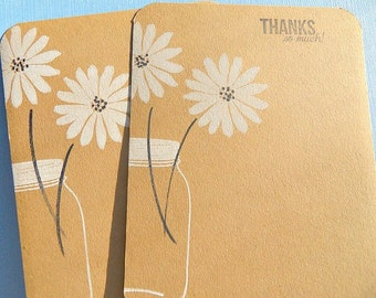 Floral Thank You Cards,  Wedding Gift Thank You Cards, Floral Note Cards, Mason Jar Cards  KDTY