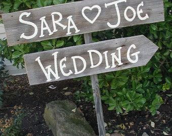 Personalized Wedding Sign / Rustic Wedding Sign / Country Wedding Sign / Wedding Direction Sign / Country Wedding Decoration