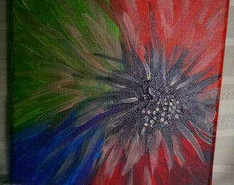 Abstract Flower on Canvas