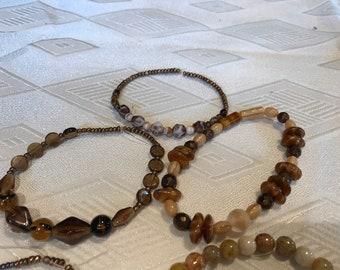 Glass beaded bracelets 5 peice set