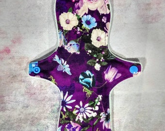 "10"" Reusable Cloth Sanitary Pad / Mama Cloth / Eco Friendly / Floral Print"