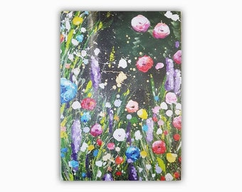L. Greeting card, floral card, art card