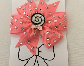 Bling Lollypop Hair Bow