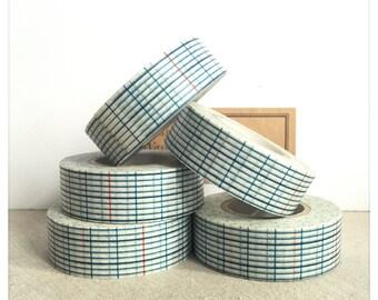 Blue Indigo Grid Washi Tape - Classiky