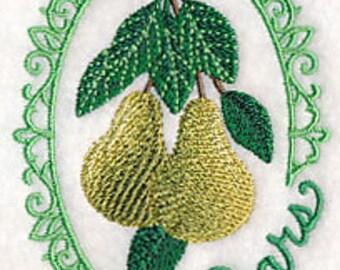 Pears Towel - Embroidered Towel - Fruit Towel - Flour Sack Towel - Hand Towel - Bath Towel - Apron - Fingertip Towel