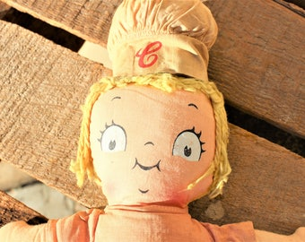 Vintage Campbell Soup Plush Rag Doll Toy