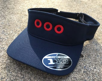 PH Fishman Red Donuts Embroidered Visor