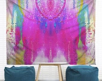 Dreamcatcher Hanging Wall Tapestry. Dorm Decor, Abstract Painting, Modern Art Large Wall, Apartment Decor, Tie-Dye Wall Art, Headboard Art