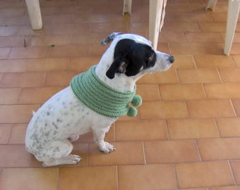 Hand knitted wool SNOOD for dog