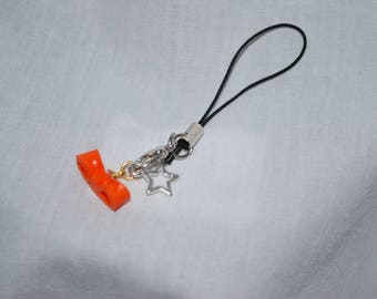 Jewelry wearable bow orange