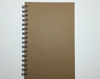 Spiral Notebook, Bullet Journal, Kraft Notebook, Blank Notebook, Spiral Journal, DIY, Notebook, Journal, 8.5x5.5, Kraft Journal, Sketchbook