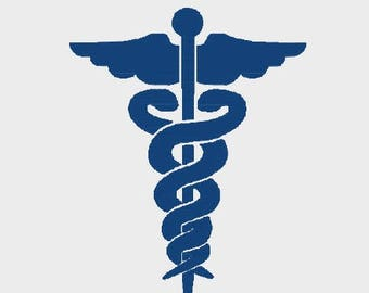 "Doctor Medical Symbol embroidery file in Multiple formats in sizes (2"", 2.5"", 3"" and 3.8"") - INSTANT DOWNLOAD - Item # 2067"
