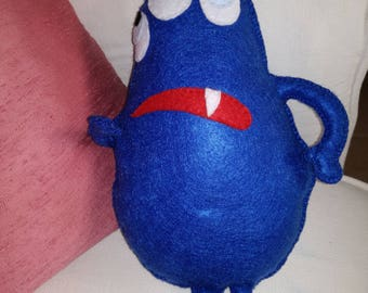 BOREDOM CUTE MONSTER, ready to ship, gift idea, felt puppet, cute, monster, collection