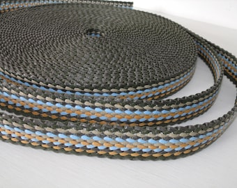 Webbing strap Ribbon braided multicolor 25mm the meter