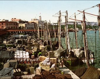 Poster, Many Sizes Available; Muelle San Francisco, Havana, Cuba, 1904 #031215