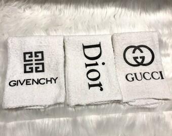 Designer Inspired Washcloths Set of 3-Cute Gift