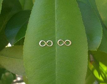 14k Gold INFINITY Earrings