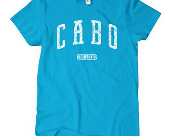 Women's Cabo San Lucas Tee - S M L XL 2x - Ladies Mexico T-shirt - Los Cabos - 4 Colors