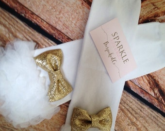 Gold and White Birthday Legwarmers | White Ruffle legwarmers | First Birthday Outfit Girl Winter Accessory