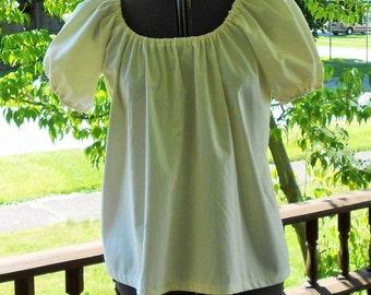 Peasant Blouse Short Sleeve / Renaissance Chemise / Pirate Shirt / Wench / St Pauli Girl Shirt / Renaissance costume  / SCA - Civil War