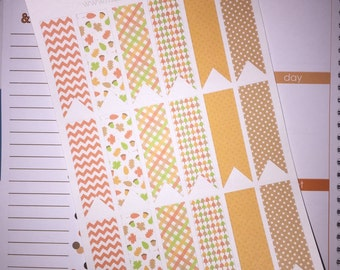 Autumn Page Flags Fall Stickers Erin Condren Life Planner Plum Paper Planner Autumn Stickers