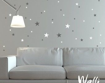 Wall decals stars set for wall decor - great for home ,nursery and kids room.