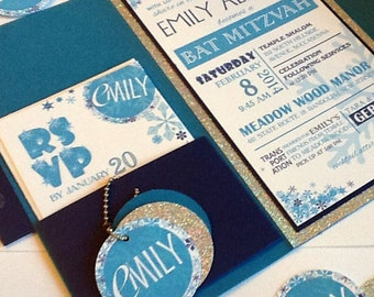 Winter Bat Mitzvah Invitation
