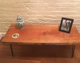 Live edge cherry coffee table