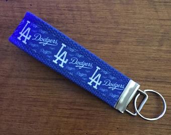 LA Dodgers Key FOB, Key Chain, Key Holder, KeyFob Wristlet Keychain, House Keys, Accessories