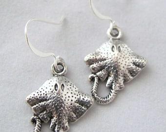 Manta Ray Earrings Stingray Earrings Fish Earrings