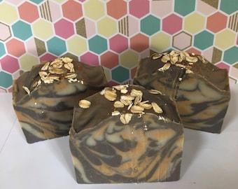 Oatmeal Milk and Honey Soap; Bath and Body; Handmade Soap