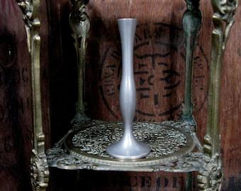 Damart Pewter Vase, Pewter Vase, French Pewter, Vintage Stem Vase, Pewter Bud Vase, Small Vase, Bud Vase, Pewter Stem Vase, Slender Vase