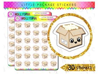 30 mignon petit colis Planner Stickers, emballage, emballage, Mail heureux, parfait pour votre planificateur heureux, Erin Condren, Kikki K, Filofax, etc. UK