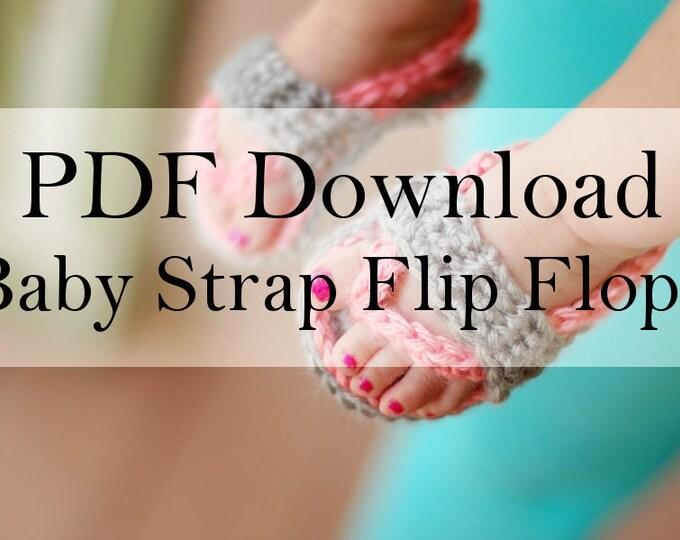 Crochet PATTERN Baby Strap Flip Flops Pdf DOWNLOAD