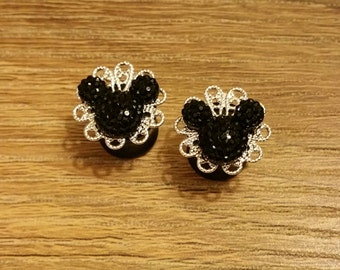 Mickey Sparkle Plugs 2g, 0g & 00g (Made to Order)