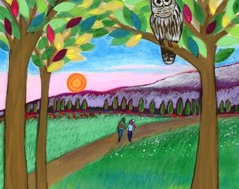 Greeting card : Walk with You