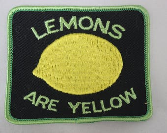 Lemons Are Yellow Patch