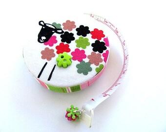 Pocket Tape Measure Modern Flower Sheep Retractable Tape Measure