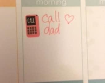 Cell Phone stickers for Erin Condren Life Planner Filofax Gillio #SWM00109