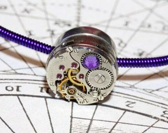 Cyber-steampunk Bracelet - Purple