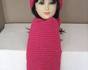 Hat and scarf Merino Wool and cashmere